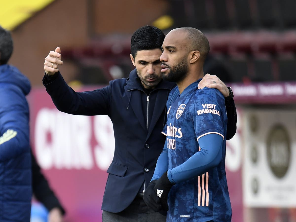 Mikel Arteta says 'anything is possible' over Alexandre Lacazette's Arsenal future