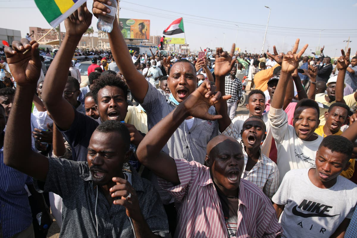 Thousands rally in Sudan's capital to demand civilian rule