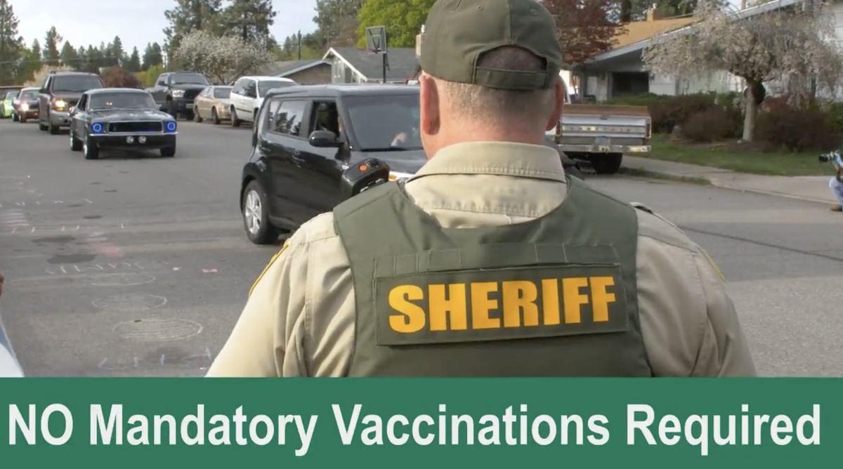 Local sheriff sparks outcry by offering jobs to cops who refuse to get vaccinated