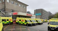 Hospital declares 'critical incident' as 25 ambulances queue outside
