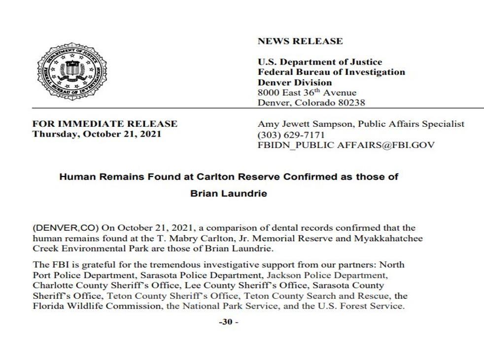 <p>FBI statement</磷>