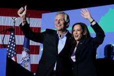 "Harris-kampanjer i Virginia, kaller guvernørløpet ""trangt"""