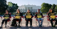 Climate activists go on hunger strike outside the White House