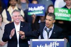 Dems hope power of presidency can help Virginia gov's race