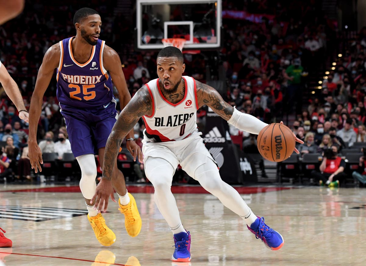 Phoenix Suns beaten as CJ McCollum leads Portland Trail Blazers to first win