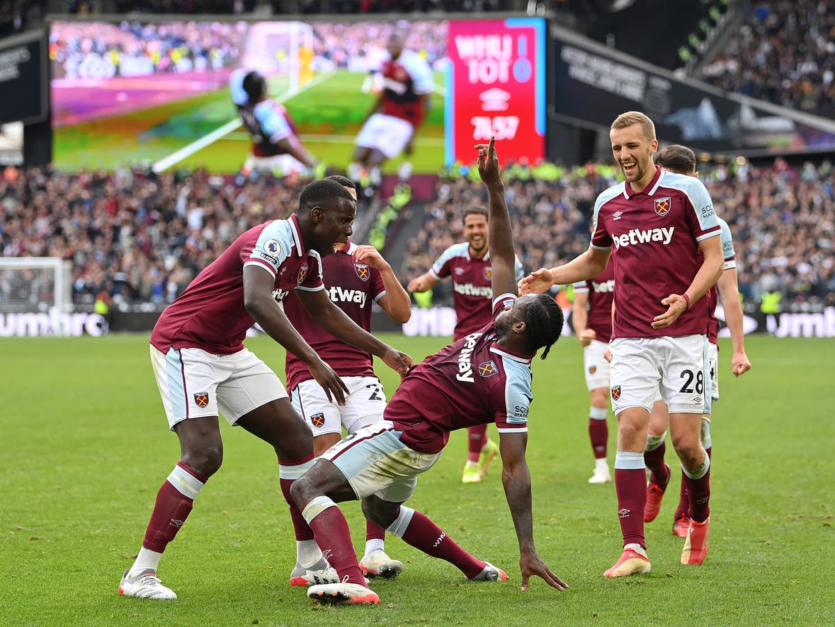 Michail Antonio fires West Ham to derby victory over Tottenham
