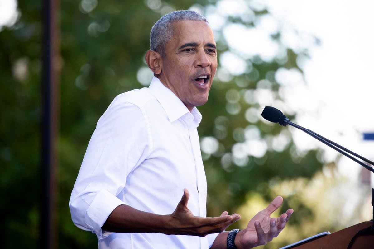 Obama lambasts GOP election lies and voting laws aiming to 'rig elections'