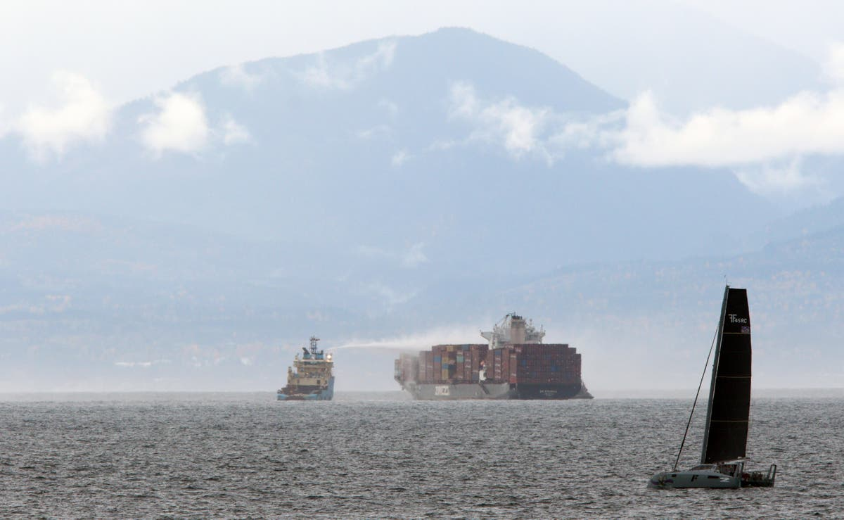 Fire on cargo ship off Canada 'stabilised' but still burning, officials say