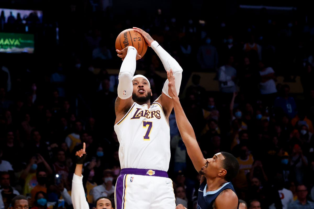 Carmelo Anthony lifts Los Angeles Lakers over Memphis Grizzlies