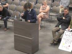 Anti-vaxx parents mock immunocompromised child speaking at school meeting