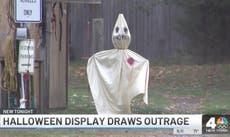 Confederate Halloween display featuring KKK-like figures prompts community backlash