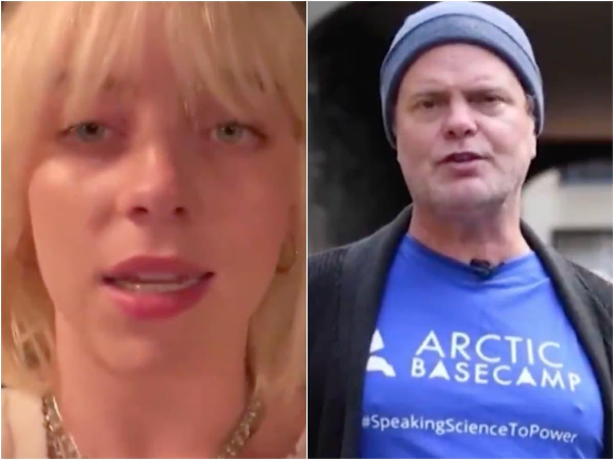 Billie Eilish and Rainn Wilson call for 'urgent action' amid climate crisis