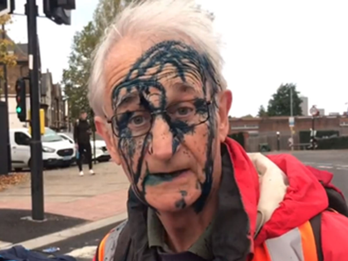Insulate Britain protesters blocking roads have ink thrown at them by furious drivers