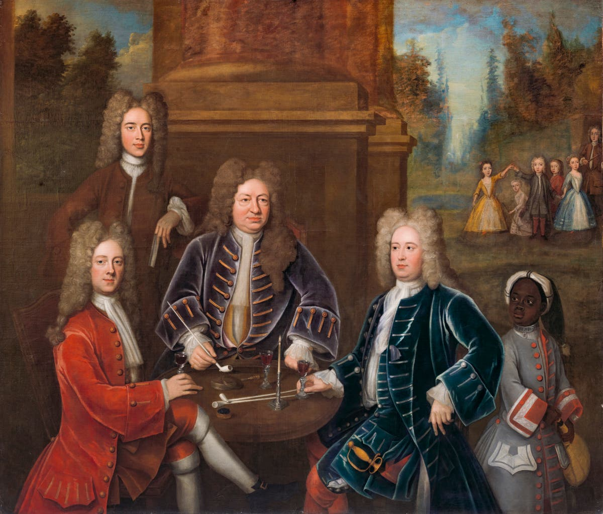 Painting of Yale namesake and enslaved child back on display