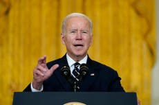 'We risk losing our edge': Biden warns of consequences if 'historic framework' does not become law