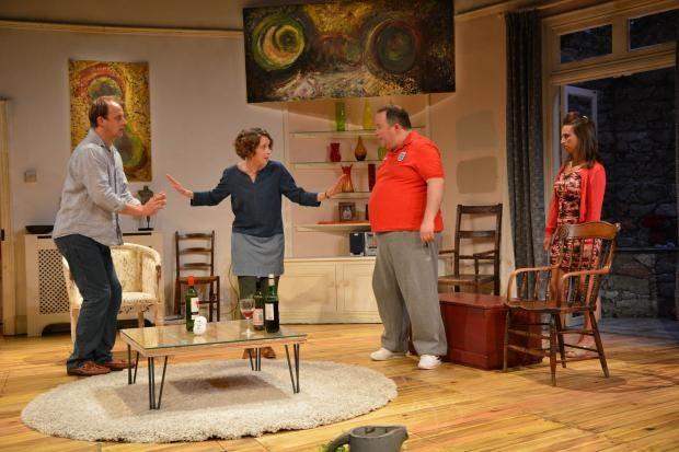 9. l-r Darren Strange (Oliver), Laura Howard (Emily), Dan Copeland (Alan) and Samantha Seager (Dawn) in Invincible at St. James Theatre. Photo credit James Albrecht.JPG