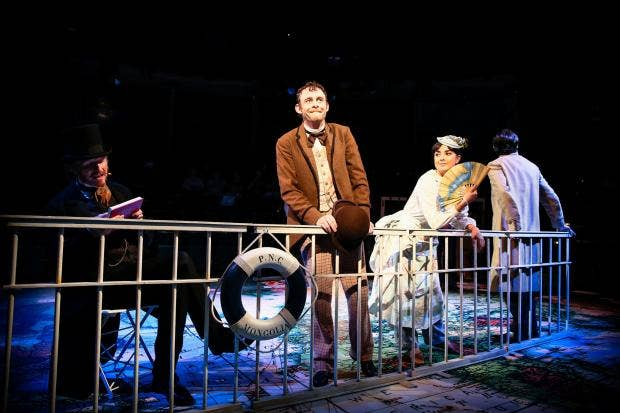 (l-r) Andrew Pollard as Phileas Fogg, Michael Hugo as Passepartout & Rebecca Grant as Kamana Aouda  in AROUND THE WORLD IN EIGHTY DAYS. Photo - Andrew Billington (2).jpg