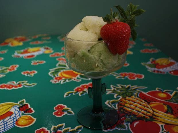 Cactus and apple flavoured ice cream.JPG