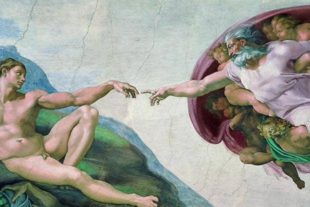 AN49594859The complete work Caption Creation of Adam detail from the Sistine Ceiling, 1510.jpg