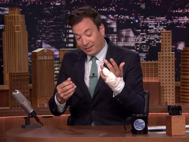 Jimmy Fallon almost needed his finger amputated after he ...
