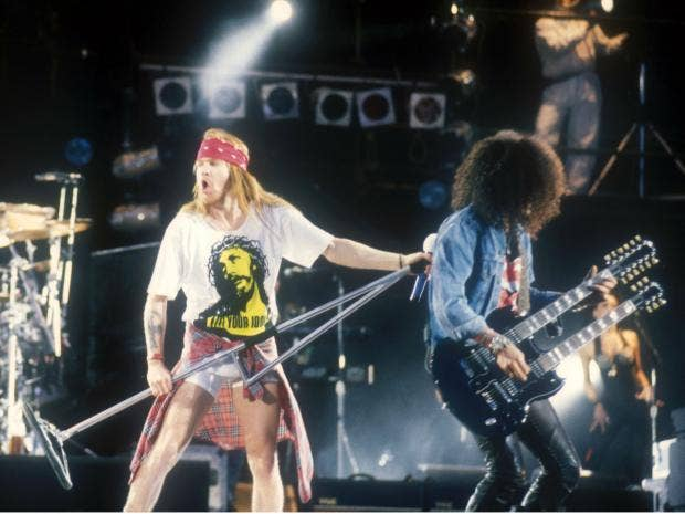 is slash allowed to play guns and roses songs