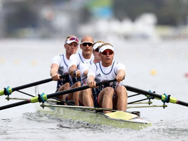 Olympics-Rowing-Glover, Stanning extend unbeaten run