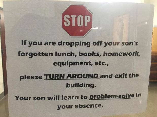 Sign with message about students' forgotten lunch goes viral