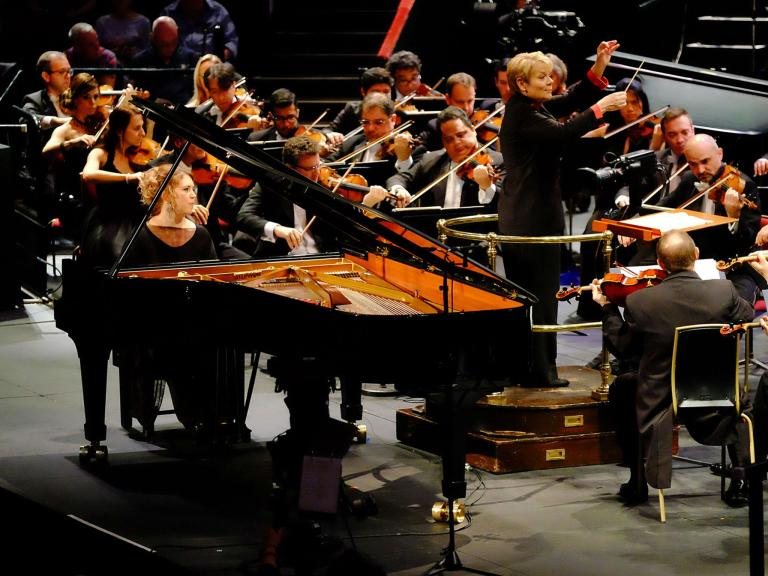 Prom 50: Hough/ BBC SO/Vedernikov, Prom 51: Montero/Sao Paolo SO/Alsop, review: 'Customary brilliance'