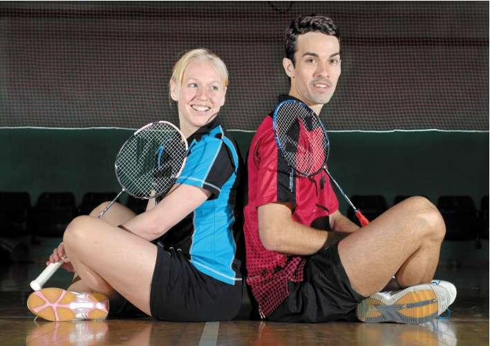 Badminton player Nathan Robertson (pictured with doubles partner Gail Emms) will still travel to Delhi