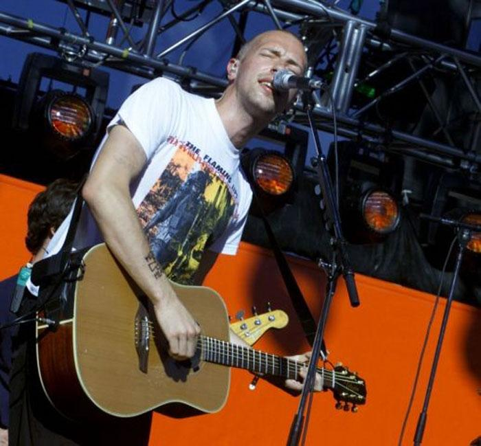 Coldplay's second album, A Rush of Blood to the Head, was nearing completion when an excited Chris Martin arrived at the studio late one night.