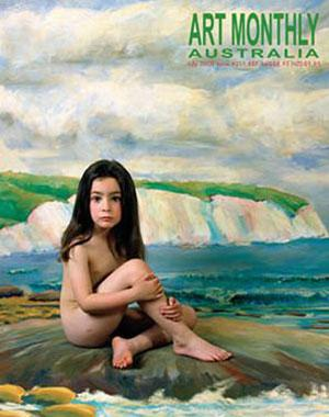 The Art Monthly cover photo, featuring Olympia Nelson and taken by her mother Melbourne photographer Polixeni Papapetrou