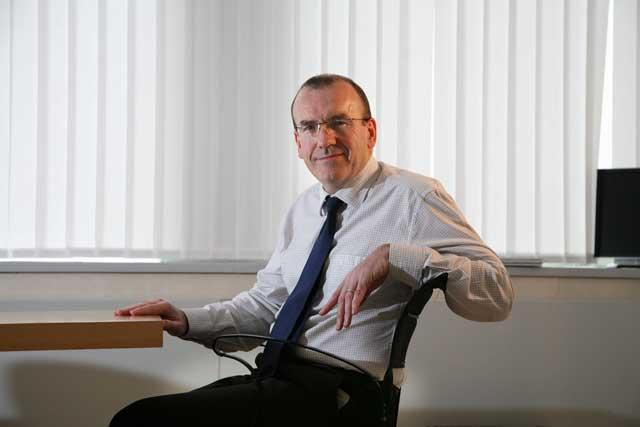 Sir Terry Leahy at Tesco HQ in Cheshunt, Hertfordshire