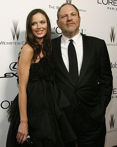 The producer Harvey Weinstein and his wife Georgina Chapman, a fashion designer who runs one of the subsidiary companies in his media empire