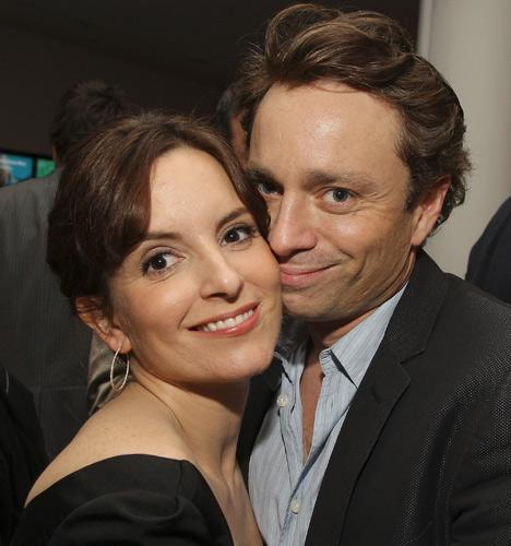 Actress Tina Fey and actor Chris Kattan attend the after-party for The 2008 Tribeca Film Festival premiere of 'Baby Mama'