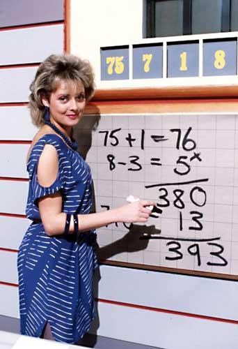Carol Vorderman in an episode of Countdownfrom 1984