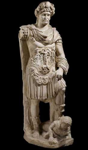 Past perfect? A cast of a statue of Hadrian, from Crete