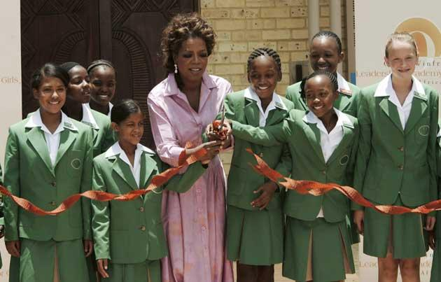 Oprah Winfrey at the opening of her Leadership Academy for Girls in South Africa in January 2007