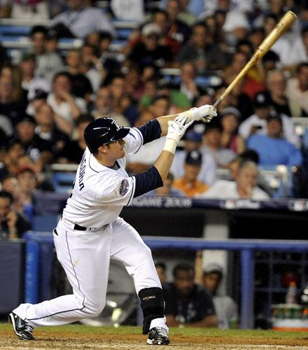 Evan Longoria hits out for the Tampa Bay Rays, who have unexpectedly put the New York Yankees and the Boston Red Sox in the shade by leading the American League East