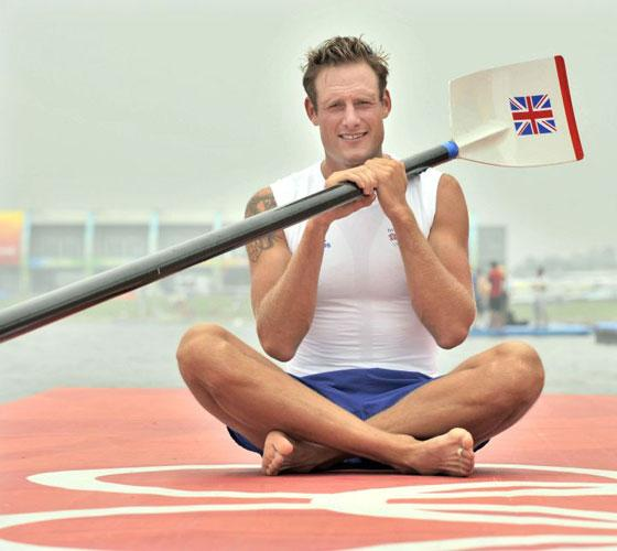 <b>Thursday</b><br/> Alastair Heathcote, member of the eight man Great Britain rowing team ahead of the start of competitions from 9 August, 2008