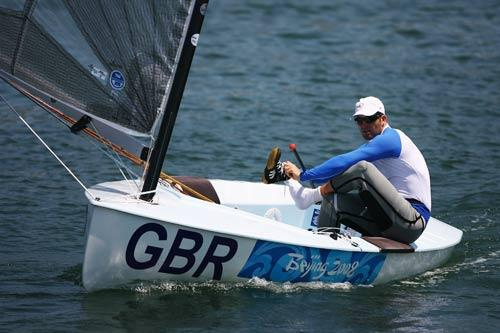 Ben Ainslie during practice on Friday