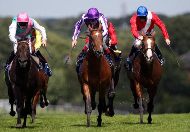 Johnny Murtagh and Mount Nelson (centre) land the Coral-Eclipse Stakes at Sandown five weeks ago