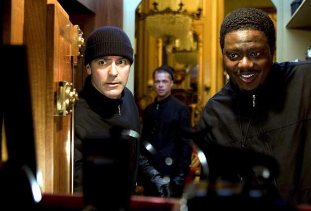 Mac, (right) with George Clooney (left) and Brad Pitt in 'Ocean's Twelve', 2004