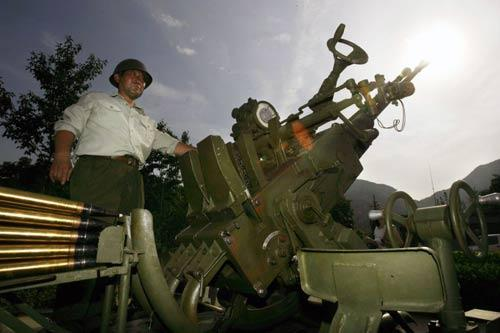Artillery is used to seed clouds in Beijing