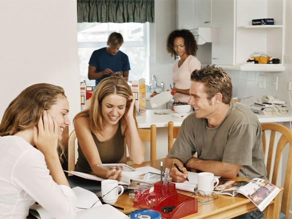 Although a lot of students move into student accommodation more and more are choosing to live with their parents