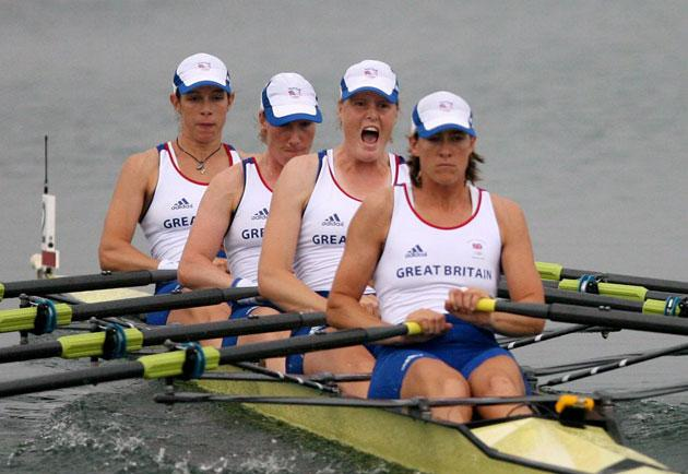 Great Britain will go for gold in the women's quadruple sculls on Sunday morning