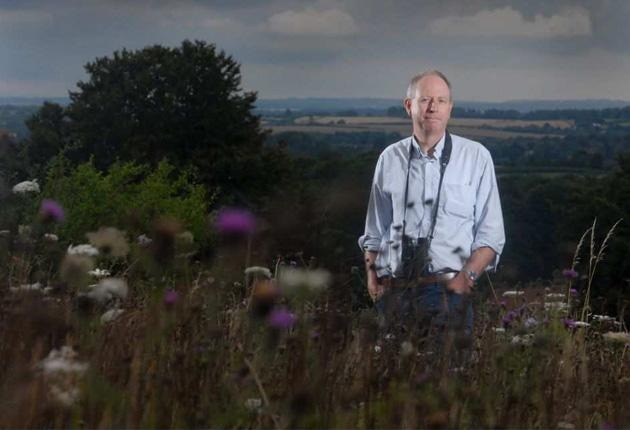 Lawn grower: Jon Valters has bought acres of land to preserve Britain's grasslands