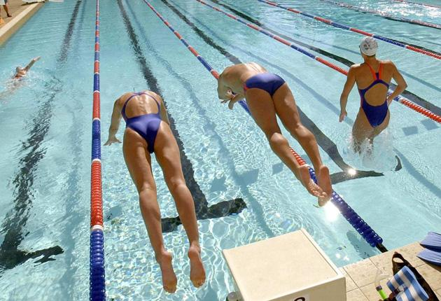 Young swimmers face a gruelling training regime to make the grade