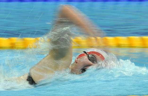16 August 2008: Rebecca Adlington on her way to winnng 800m gold