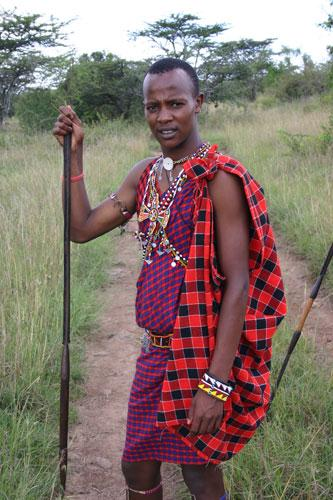 Warrior: animals, such as bull elephants, are part of everyday life for the Masai