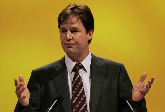 Lib Dem leader, Nick Clegg, feels it is no longer a priority to campaign for British entry into the euro